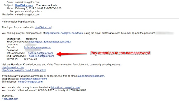 email from hostgator