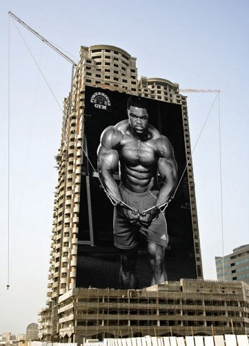 powerhouse gym billboard ad