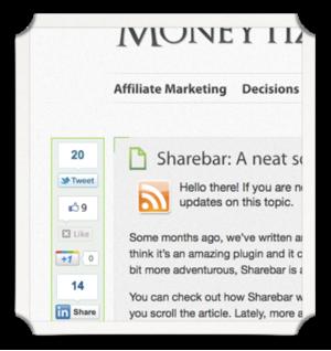 sharebar social sharing plugin